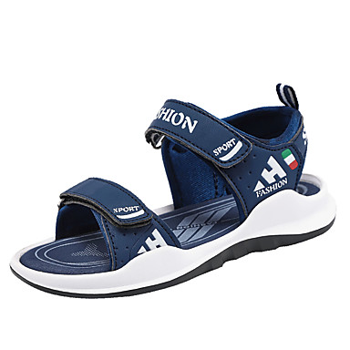 povoljno Dječje sandale-Dječaci PU Sandale Velika djeca (7 godina +) Udobne cipele Dark Blue / Bijela / Navy Plava Ljeto