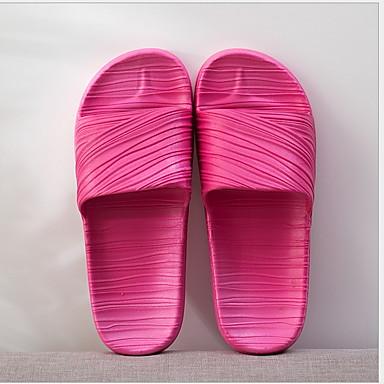 voordelige Damespantoffels & slippers-Unisex Slippers & Flip-Flops Platte hak Ronde Teen PVC Lente & Herfst Paars / Fuchsia / Blauw