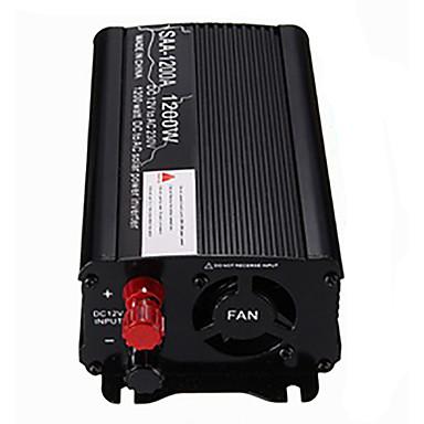 preiswerte Innenraum Autozubehör-Solar Wechselrichter 1200W Spitze 12V DC zu 230V AC modifizierten Sinus-Wandler