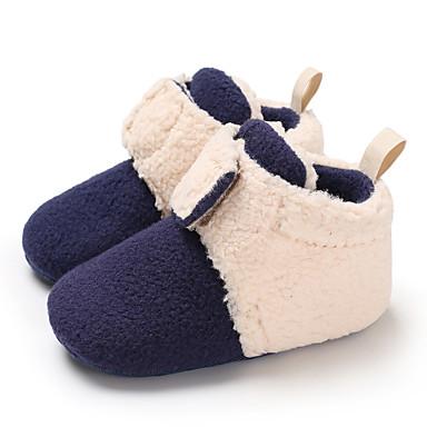hesapli Kız Çocuk Ayakkabıları-Genç Erkek / Genç Kız Suni Kürk Çizmeler Bebekler (0-9m) / Bebek (9 milyon 4ys) İlk Adım Pembe / Drak Red / Leopar Kış