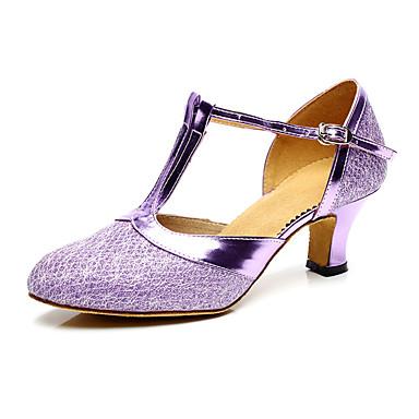 povoljno Obuća za dvoranski ples i moderne plesove-Žene Eko koža Moderna obuća Štikle Kubanska potpetica Moguće personalizirati Pink / Crvena / Bronza