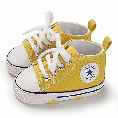 baratos Sapatos de Criança-Para Meninos / Para Meninas Lona Tênis Crianças (0-9m) / Criança (9m-4ys) Primeiros Passos Verde / Azul Claro / Amêndoa Primavera / Outono