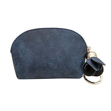abordables Sacs-Femme Fermeture PU Porte-Monnaie Couleur unie Noir / Bleu de minuit / Rose Dragée