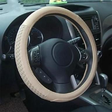 voordelige Auto-interieur accessoires-LITBest Auto-stuurhoezen Imitatieleer 38cm Beige Voor Universeel Alle jaren / Universeel