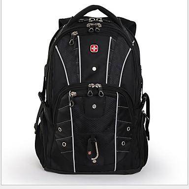 abordables Sacs-Grande Capacité Tissu Oxford Fermeture sac à dos Géométrique Sport & Loisir Noir / Homme