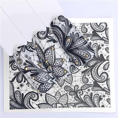 povoljno Ljepota i kosa-1 pcs Naljepnice Romantična serija nail art Manikura Pedikura Mini Style / Sigurnost / Tanak dizajn Stilski / Jednostavan Dnevno / Festival