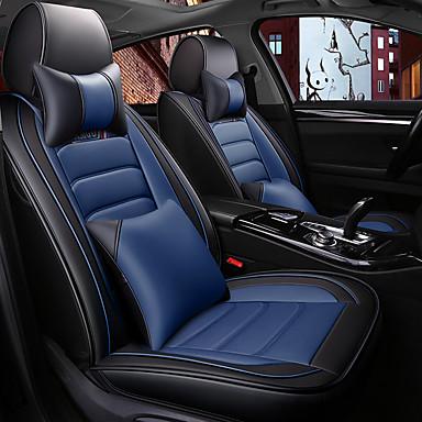 voordelige Auto-interieur accessoires-zomer autostoelhoes lederen ijsdraad all-inclusive vier seizoenen universeel netwerk rode stoelhoes alles omgeven / vijf stoelen / algemeen motoren zitkussen