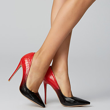 povoljno Ženske cipele-Žene Pumps cipele Krokodil Proljeće ljeto Vintage Cipele na petu Stiletto potpetica Krakova Toe Crno-bijeli / Crno / crvena / White / Yellow / Vjenčanje / Zabava i večer