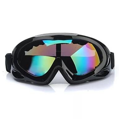 anti-uv anti sis motosiklet atv gözlükler siyah çerçeve