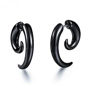 voordelige Herensieraden-Heren Dames Oorbel Vintagestijl Totem Series Stijlvol oorbellen Sieraden Zwart Voor Lahja Dagelijks 1 paar