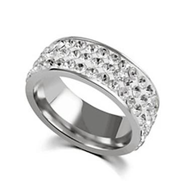 voordelige Herensieraden-Heren Dames Bandring Ring Staartring 1pc Goud Zilver Roestvast staal Titanium Staal Cirkelvormig Standaard Modieus Lahja Dagelijks Sieraden Schattig