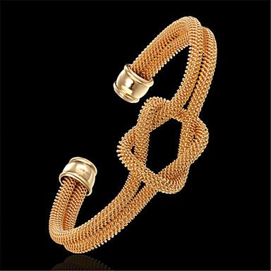 baratos Bangle-Mulheres Bracelete Clássico Por sorte Estiloso Rosa Folheado a Ouro Pulseira de jóias Dourado Para Festa Diário