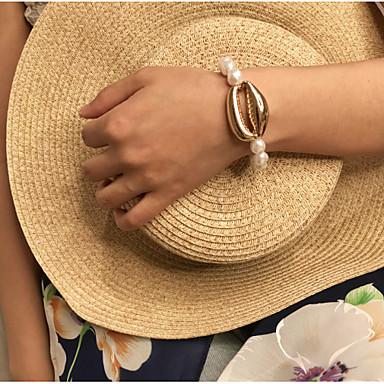 Kadın's Bileklik Klasik Kabuk Basit moda alaşım Bilezik takı Altın / Gümüş Uyumluluk Hediye Günlük Okul Tatil Çalışma