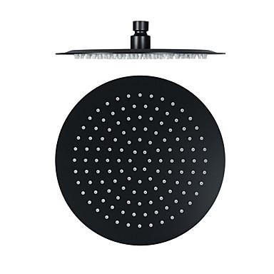10 inç siyah paslanmaz çelik ultra-ince duş başlığı