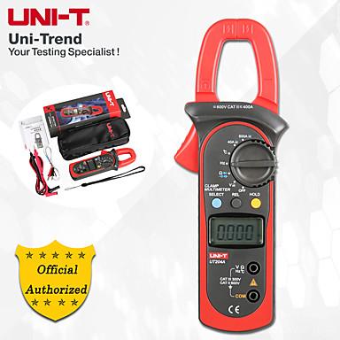 voordelige Test-, meet- & inspectieapparatuur-Uni-tut204 ac / dc digitale stroomtang 400a-600a digitale ampèremeter weerstand / diode / capaciteit / temperatuur test