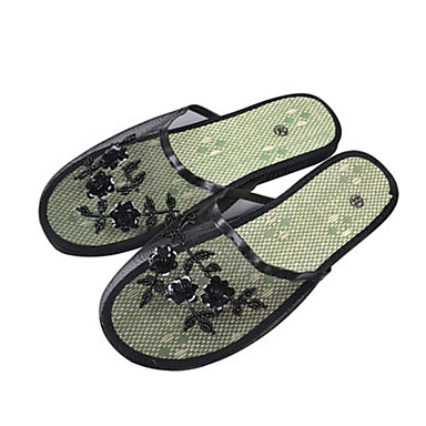 voordelige Damespantoffels & slippers-Dames Slippers & Flip-Flops Platte hak Peep Toe EVA / PU Informeel Zomer Zwart / Koffie