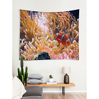 Kumsal Teması Duvar Dekoru %100 Polyester Yeni Yıl'ınkiler Duvar Sanatı, Duvar Halılar Dekorasyon