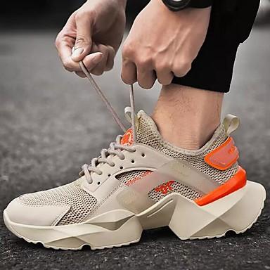 Erkek Ayakkabı Tissage Volant Bahar / Sonbahar Atletik Ayakkabılar Koşu Dış mekan için Siyah / Beyaz / Siyah / Kırmızı / Beyaz
