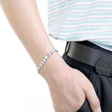 voordelige Herensieraden-Heren Armbanden met ketting en sluiting Cut Out Kostbaar Standaard Modieus Messinki Armband sieraden Goud / Zilver Voor Dagelijks Werk / Verzilverd / Verguld