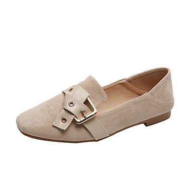 Kadın's Düz Ayakkabılar Düz Taban PU İlkbahar & Kış Siyah / Badem
