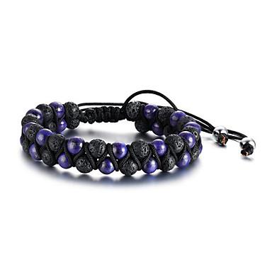 abordables Bracelet-Bracelet à Perles Homme Rétro résine Résine Foi Mode Bracelet Bijoux Bleu de minuit Violet Arc-en-ciel Forme Géométrique pour Cadeau Quotidien