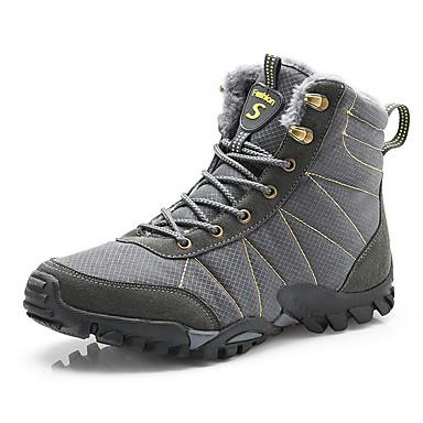Erkek Ayakkabı Şifon Sonbahar / Sonbahar Kış Sportif / Günlük Çizmeler Dağ Yürüyüşü / Yürüyüş Yarı-Diz Boyu Çizmeler Dış mekan için Siyah / Koyu Gri