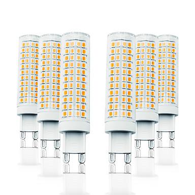billige Elpærer-loende 6-pakke 11w dimming ledet kornlys 110-130v 200-240v 750lm g9 136-leders lampe smd2835 hvit / varm hvit