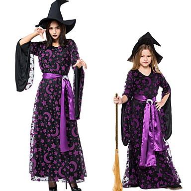 Sihirli Kadınlar Kostüm Kadın's Peri Masalı Teması Cadılar Bayramı Performans Kostümler Kadın's Dans kostümleri Polyester Malzeme Kombini