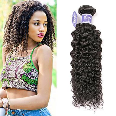 baratos Extensões de Cabelo Natural-3 pacotes Cabelo Mongol Kinky Curly Cabelo Virgem Não processado Cabelo Natural Cabelo Humano Ondulado Extensor Cabelo Bundle 8-28 polegada Natural Tramas de cabelo humano Feminino extensão Natural