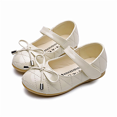 baratos Sapatos de Criança-Para Meninas Microfibra Rasos Little Kids (4-7 anos) / Big Kids (7 anos +) Conforto / Sapatos para Daminhas de Honra Laço Preto / Branco / Bege Primavera / Outono / Festas & Noite