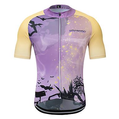MUBODO Erkek Kısa Kollu Bisiklet Forması Menekşe Tek Renk Bisiklet Forma Üstler Nefes Alabilir Hızlı Kuruma Spor Dalları Terylene Dağ Bisikletçiliği Yol Bisikletçiliği Giyim / Mikro-Esnek