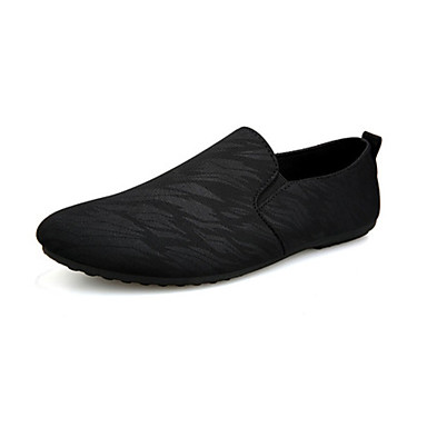 Erkek Ayakkabı Kanvas Yaz Günlük Mokasen & Bağcıksız Ayakkabılar Günlük / Ev için Siyah / Mavi / Gri