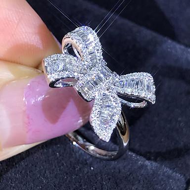 billige Motering-Dame Ring 1pc Sølv Fuskediamant / Legering Luksus / Koreansk / Mote Daglig / Skole / Gate Kostyme smykker