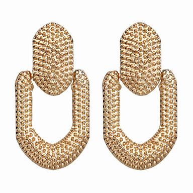 baratos Bijuteria de Mulher-Mulheres Brinco Geométrico Esperança Brincos Jóias Dourado / Prata Para Diário 2pcs