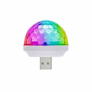 Loende 5 paket led araba usb atmosfer ışık usb disco ball parti işık mini çocuklar doğum günü partileri için taşınabilir strobe ışıkları sahne dj aydınlatma noel disko dekorasyon