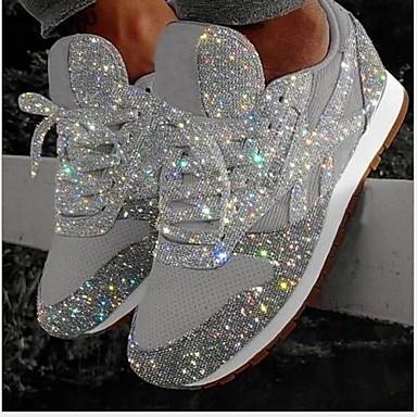 povoljno Ženske cipele-Žene Sneakers Skrivena peta Okrugli Toe Šljokice Mrežica Ljeto Pink / Pink