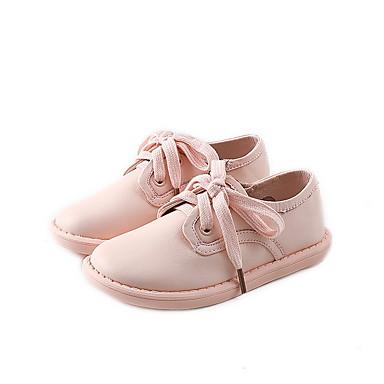 baratos Sapatos de Criança-Para Meninas Microfibra Oxfords Little Kids (4-7 anos) Conforto Preto / Rosa claro Verão