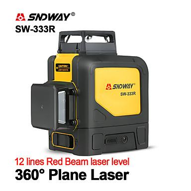 voordelige Waterpasinstrumenten-sndway sw-333r laserniveaus groen laserniveau 360 graden 3d zelfnivellerende verticale horizontale rotatielasers 12 lijnen laserniveau