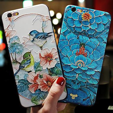 hesapli iPhone Kılıfları-Apple iphone xs max / iphone 8 artı / iphone 7/7 artı / 8/6/6 artı / xr / x / xs toza / kabartmalı / desen arka kapak çiçek tpu / silika jel