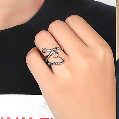 voordelige Herensieraden-Heren Bandring Ring Open Ring 1pc Zilver Titanium Staal Vintage modieus Gothic Feest Dagelijks Sieraden Sculptuur Dier