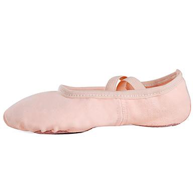 baratos Super Ofertas-Mulheres Sapatos de Dança Lona Sapatilhas de Balé Sapatilha Sem Salto Personalizável Rosa claro / Espetáculo / Ensaio / Prática