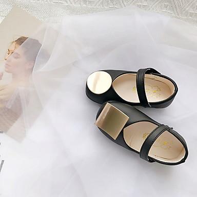 baratos Sapatos de Criança-Para Meninas Couro Ecológico Rasos Little Kids (4-7 anos) Conforto Preto / Verde / Branco Verão