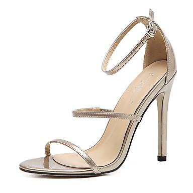 Kadın's Sandaletler Stiletto Topuk Sentetikler Tatlı / Minimalizm İlkbahar & Kış / Yaz Siyah / Altın / Parti ve Gece