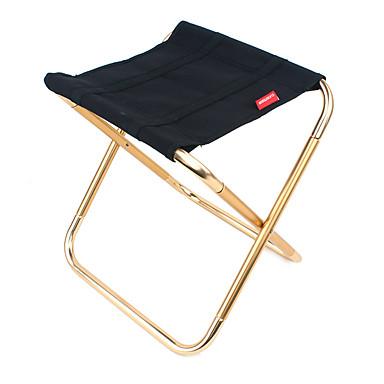 Katlanır Kamp Sandalyesi Nefes Alabilir Ultra Hafif (UL) Katlanabilir Yıkanabilir Oxford alaşım için 1 Kişi Kumsal Kamp Kamp / Yürüyüş / Mağaracılık Seyahat Siyah