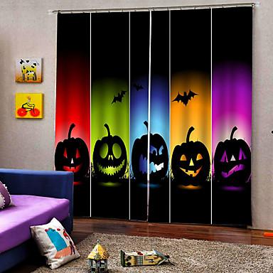 Yeni varış dijital baskı renkli parti için kabak lambalar lüks pencere perde yortusu dekor