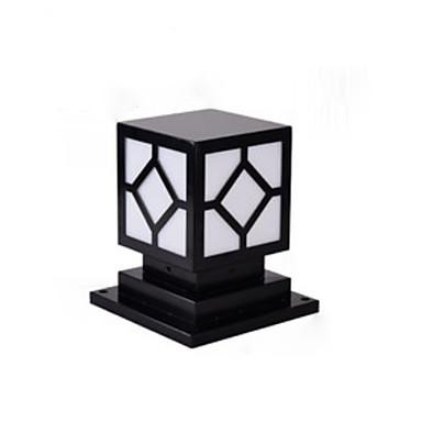 billige Utendørsbelysning-søyle lampe rustikk utendørs vanntett søyle lampe landskap lys kommersiell deco-belysning chapiterlamper for park patio iron
