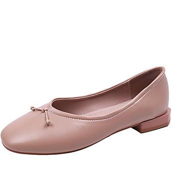 Kadın's Mokasen & Bağcıksız Ayakkabılar Düz Taban PU Günlük Yaz Yeşil / Badem / Bej