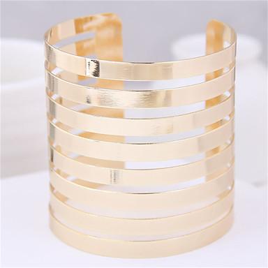 abordables Bracelet-Bracelet Jonc Manchettes Bracelets Large bracelet Femme Multirang Twist Circle simple Européen Tendance Mode énorme Bracelet Bijoux Dorée Argent pour Soirée Cadeau Quotidien Plein Air
