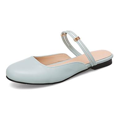 Kadın's Mokasen & Bağcıksız Ayakkabılar Düz Taban Yuvarlak Uçlu PU Tatlı İlkbahar yaz Açık Mavi / Siyah / Mavi / Beyaz