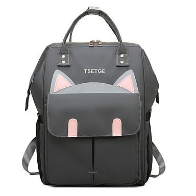 저렴한 가방-방수 옥스퍼드 섬유 지퍼 기저귀 가방 카툰 일상 블랙 / 다크 블루 / 그레이